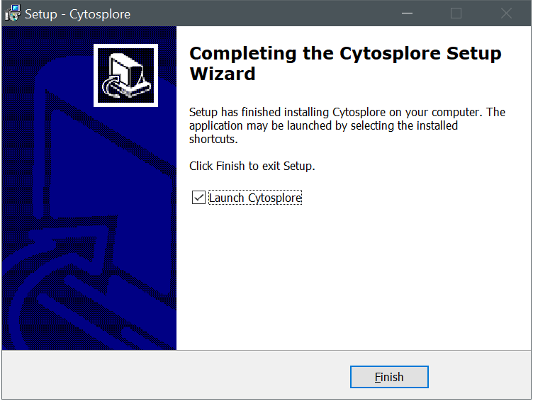 Cytosplore Installer Finished Dialog